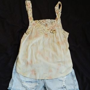INTAMINTLY FREE PEOPLE YELLOW TANK TOP SZ …